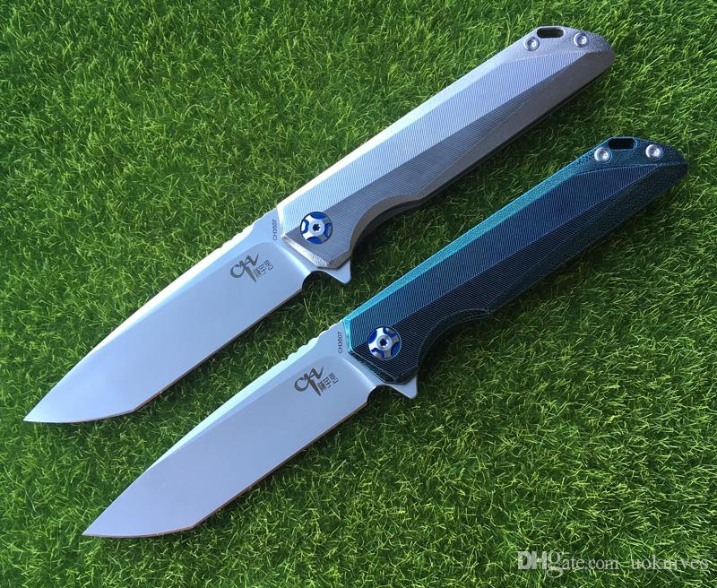 NEW CH3507 Tactics Flipper folding knife M390 Blade ball bearings TC4 Titanium handle camping hunting pocket kitchen fruit Knives EDC tools