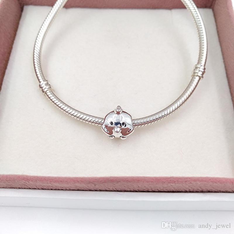 Authentische 925 Sterling Silber Perlen Charming Chick Charm für Europäische Pandora Style Schmuck Armbänder Halskette 791743