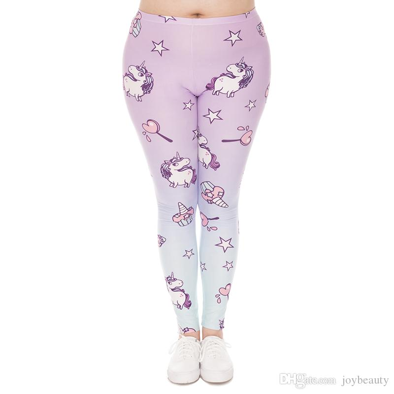 c1caed42ed559 2019 Women Leggings Unicorn Sweets 3D Graphic Print Girl Runner Comfortable  Yoga Pants Lady Sport Soft Trousers Plus Size Fits L XL XXL J45765 From ...