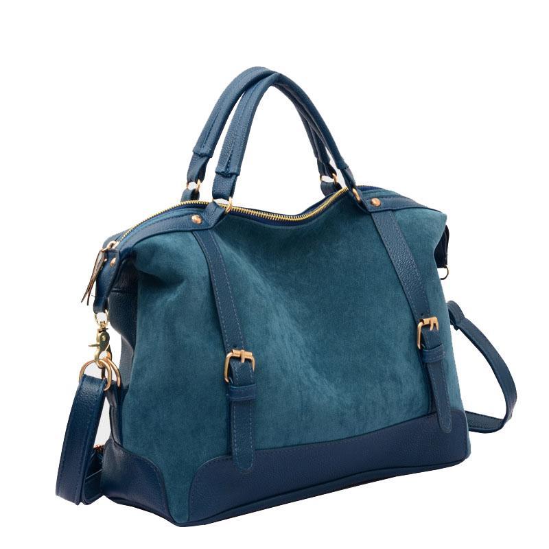 f73d123c49 Wholesale- 2017 Vintage Hobos Bag Women Shoulder Bag Nubuck Leather ...