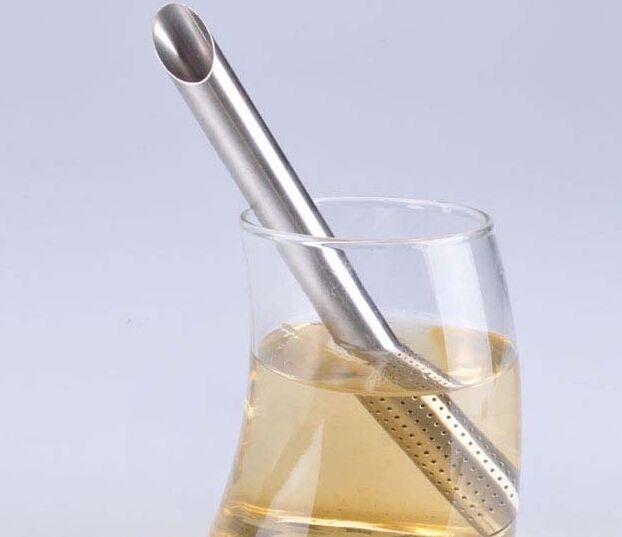 STAINLESS TEASTICK STRAINER STEEPER TEA SPOON INFUSER