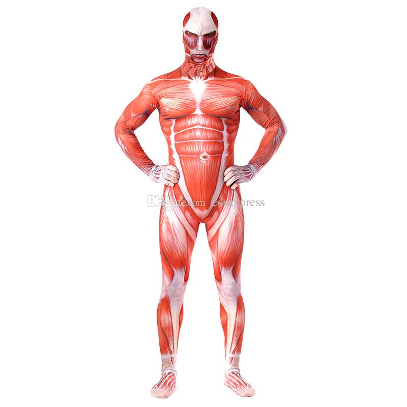 Attack On Titan Costumes Lycra Spandex Skin Tight Suit Halloween ...