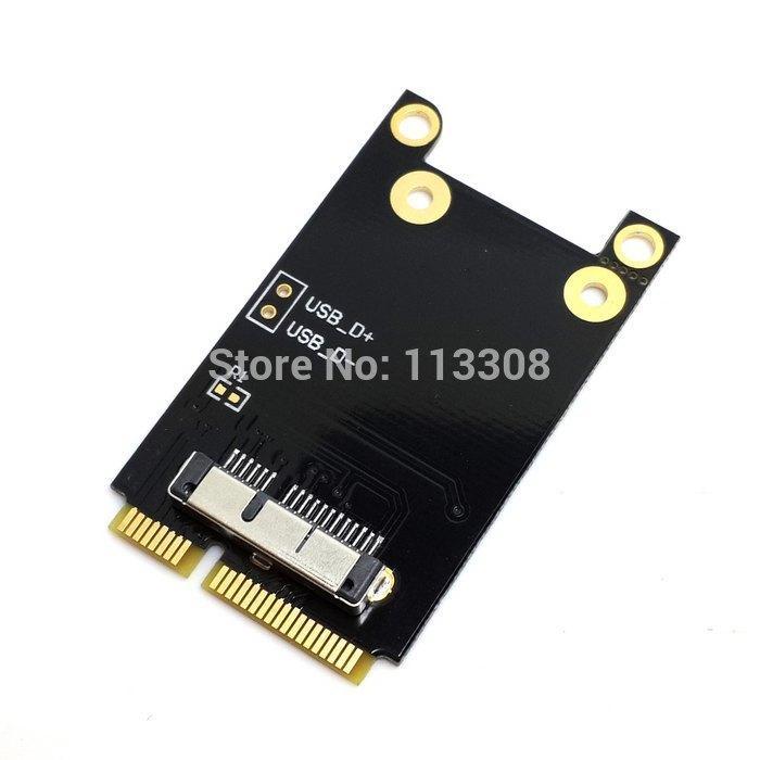 50pcs / lots Wireless WIFI Mini PCI-E Card for Macbook Broadcom  BCM94360CD/BCM94331CD BCM94331CD BCM943224P ,By Fedex UPS DHL