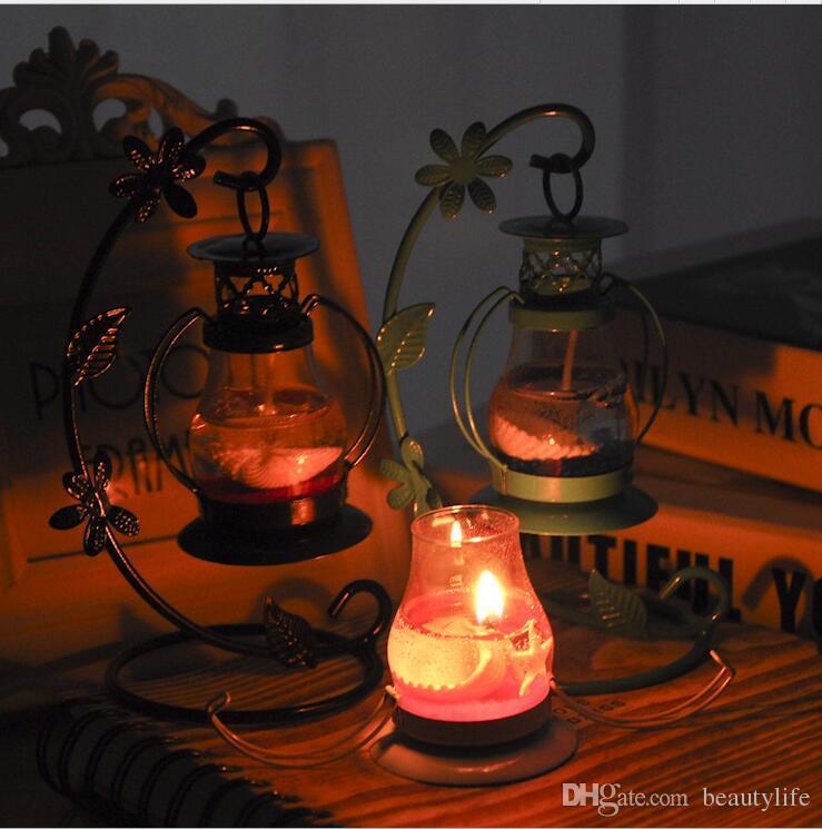 Aladdin lamp candle candle holder creative European wedding retro wind and light ornaments TV cabinet crafts romantic ornaments creative hom