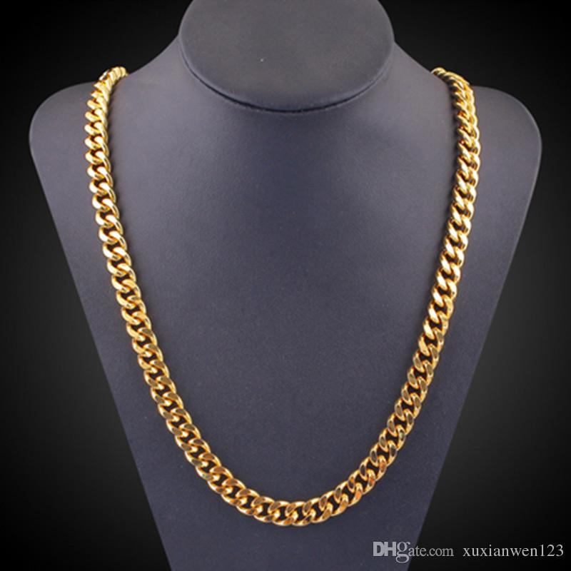 Wholesale Male Hiphop Thick Gold Chain Link Necklace, Brand Cuban ...