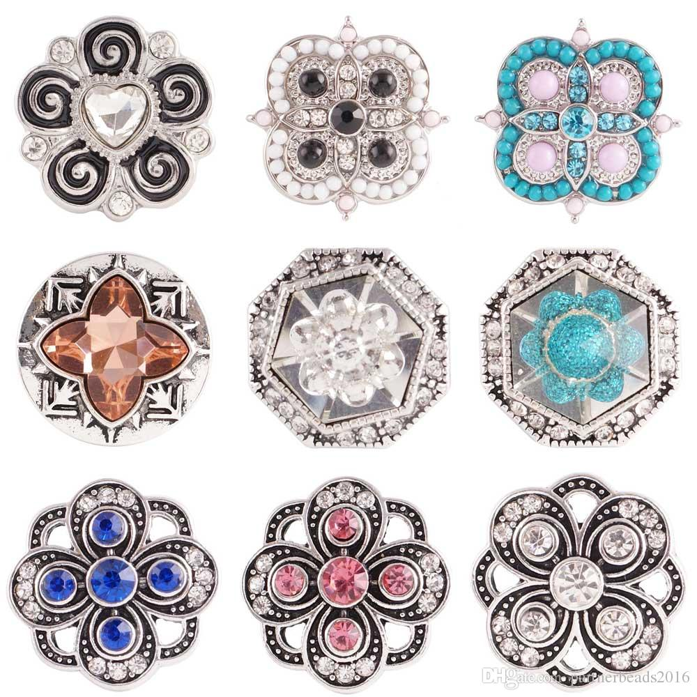 Pink Rhinestone Crown Royal 20mm Snap Charm Jewelry For Ginger Snaps