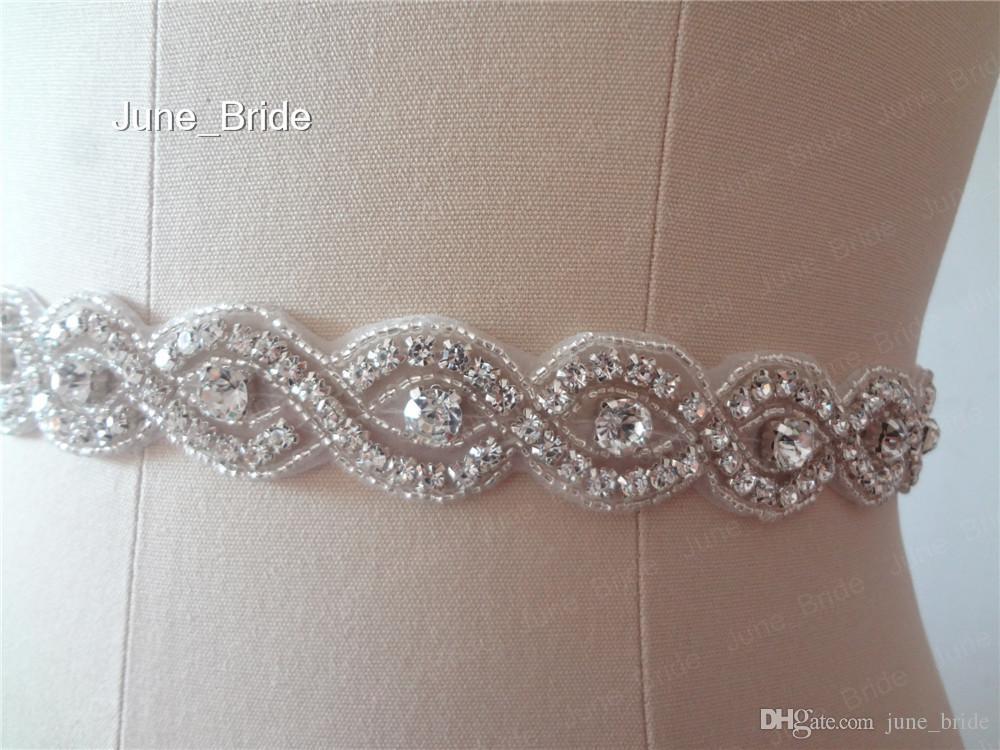 Shinny Crystal Strass Braut Sash Gürtel Hochzeit Gürtel Classic Bridal Zubehör Prom Abend Gürtel Weiß Rot Schwarz Pink Ribbon Tie Back