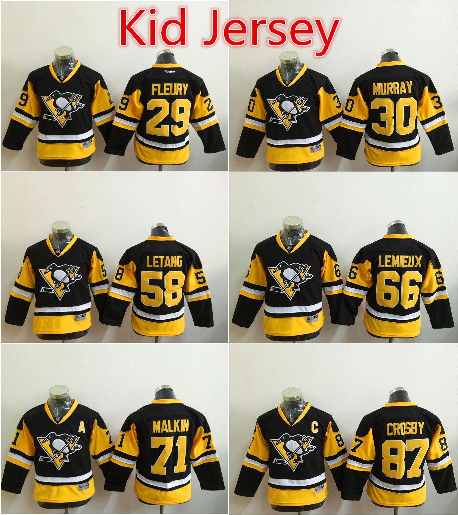 huge discount c3494 b625b pittsburgh penguins 58 kris letang light blue kids jersey