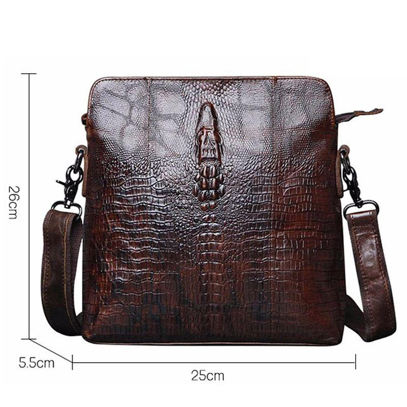 8496b813bd80 Guarantee Genuine Leather Men Bags Handmade Alligator Famous Brand Design  Messenger Bag High Quality Man Brands Bags Designer Crossbody Bags Vintage  ...