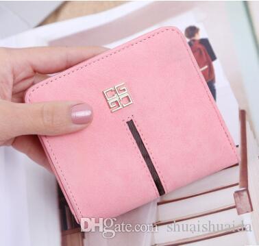 2017. Mini. Small. Lady Wallet. Short. Zero wallet. Ultrathin. Magnetic buckle. PU. Soft.Mini Wallets.Photo Holder.