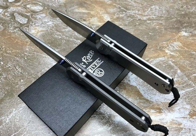 Крис Рив Себенса 21 тактический складной нож D2 с лезвием из титана на открытом воздухе для кемпинга Охота Карман выживания EDC Инструмент с подарочной коробкой