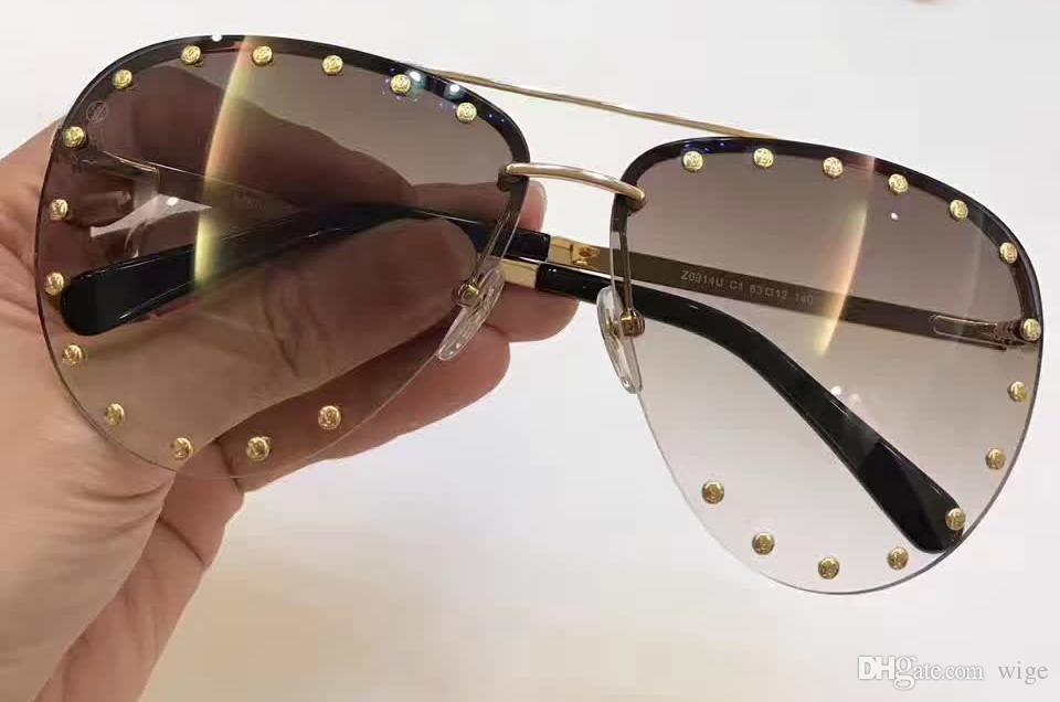 d761c4d2a9 Women Men Stud Polit Sunglasses Gold Brown Gradient Len Oversized The Party Sunglasses  Designer Sunglasses New With Box Prescription Sunglasses Glasses ...