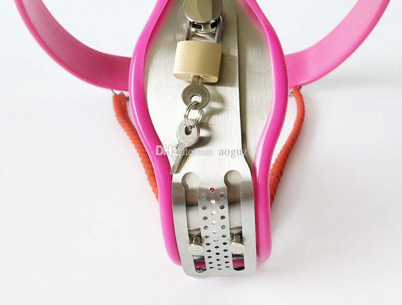 Edelstahl Bondage Keuschheitsgürtel Höschen einstellbare Taille Keuschheitsgürtel für Frau Lock BDSM Bondage Sex Toys