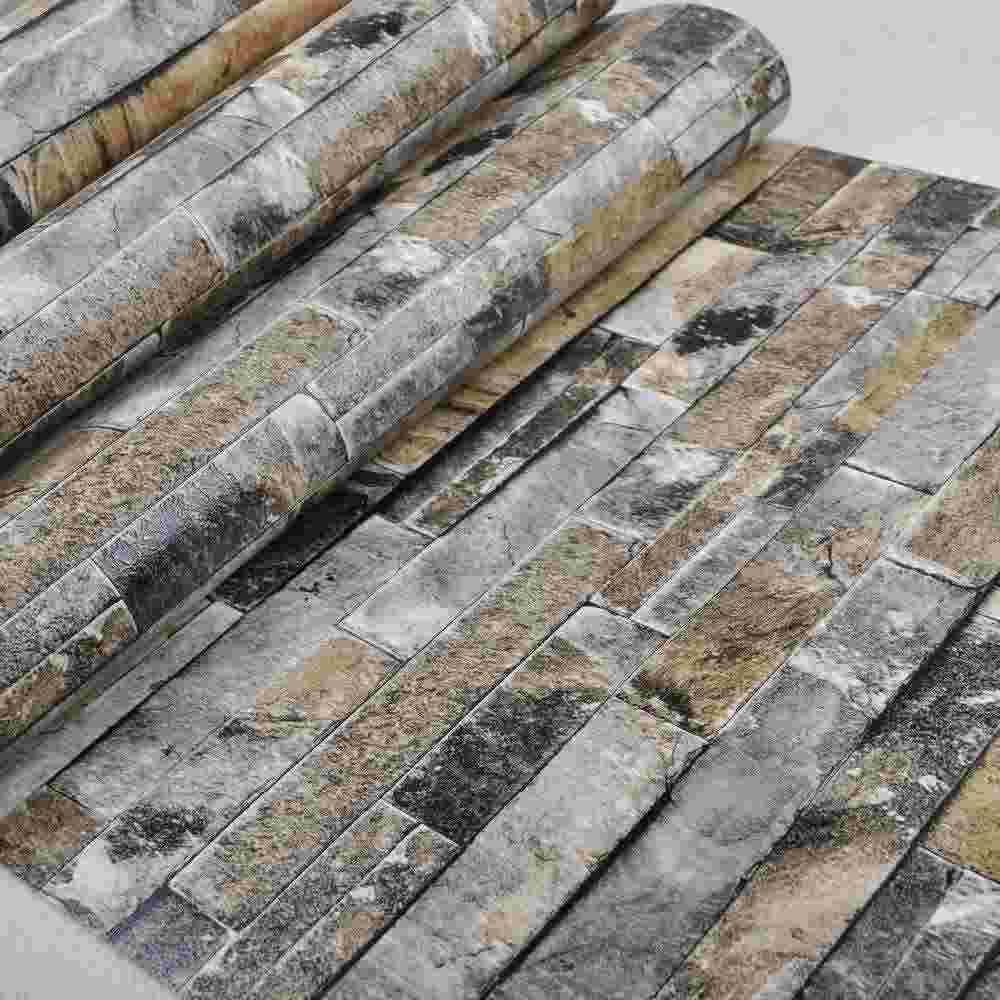 Faux Stone Brick Wall 3d Wallpaper Roll