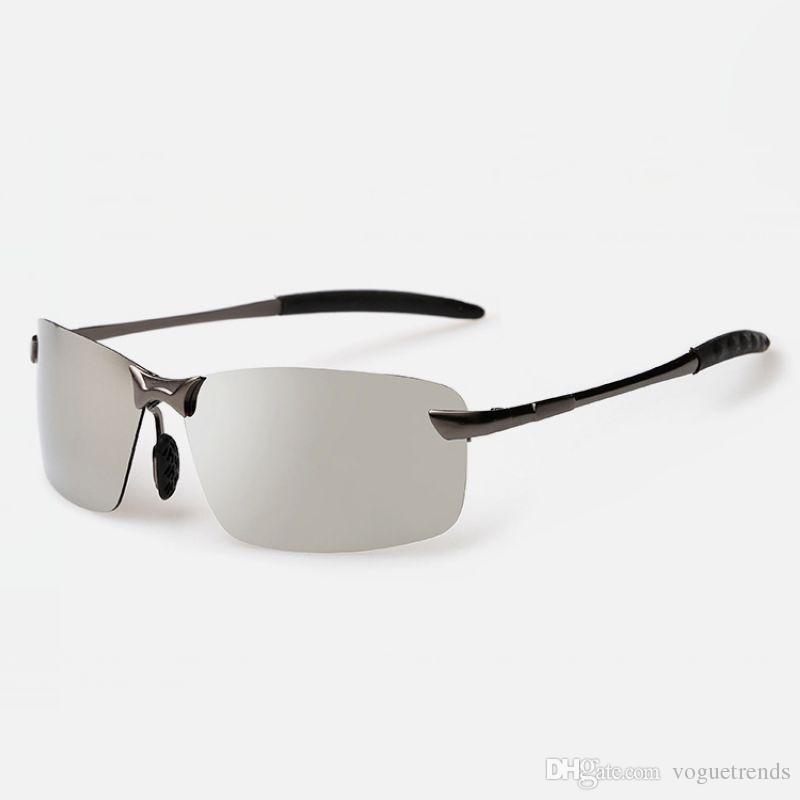 e7ae76ea2db39 Compre Designer Sem Aro Polarizada Esporte Óculos De Sol Para Homens De  Metal Templo Espelho De Prata   Laranja Lente Retangular Oculos De Sol  Polarizado De ...
