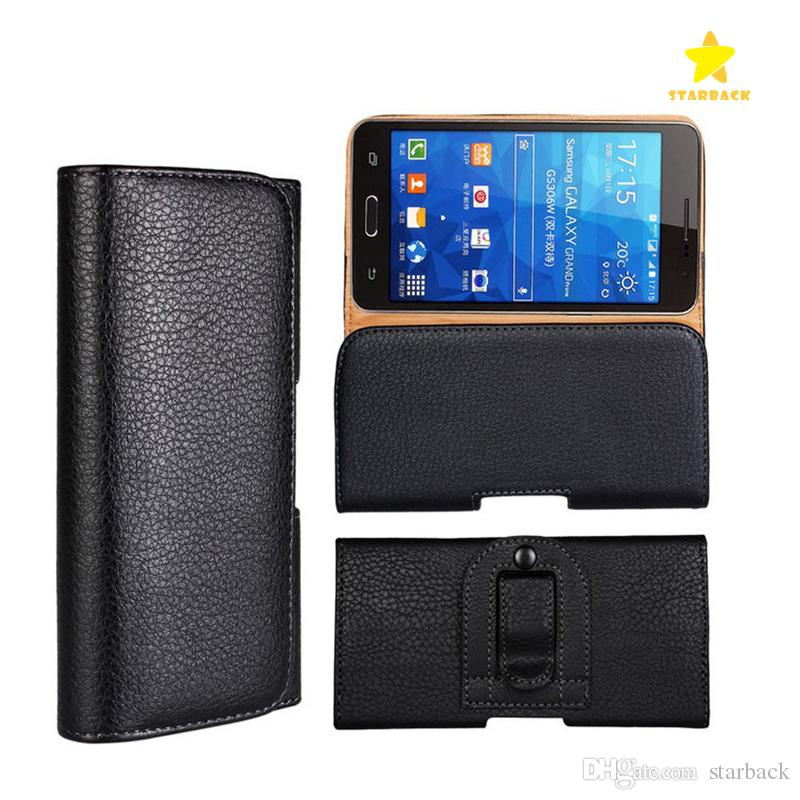 low priced 5d6f7 a3a15 Pouch Waist Bag Phone Case Magnetic Snap Closure Universal Mobile Phone  Belt Holster Clip PU Leather Cover for iPhone