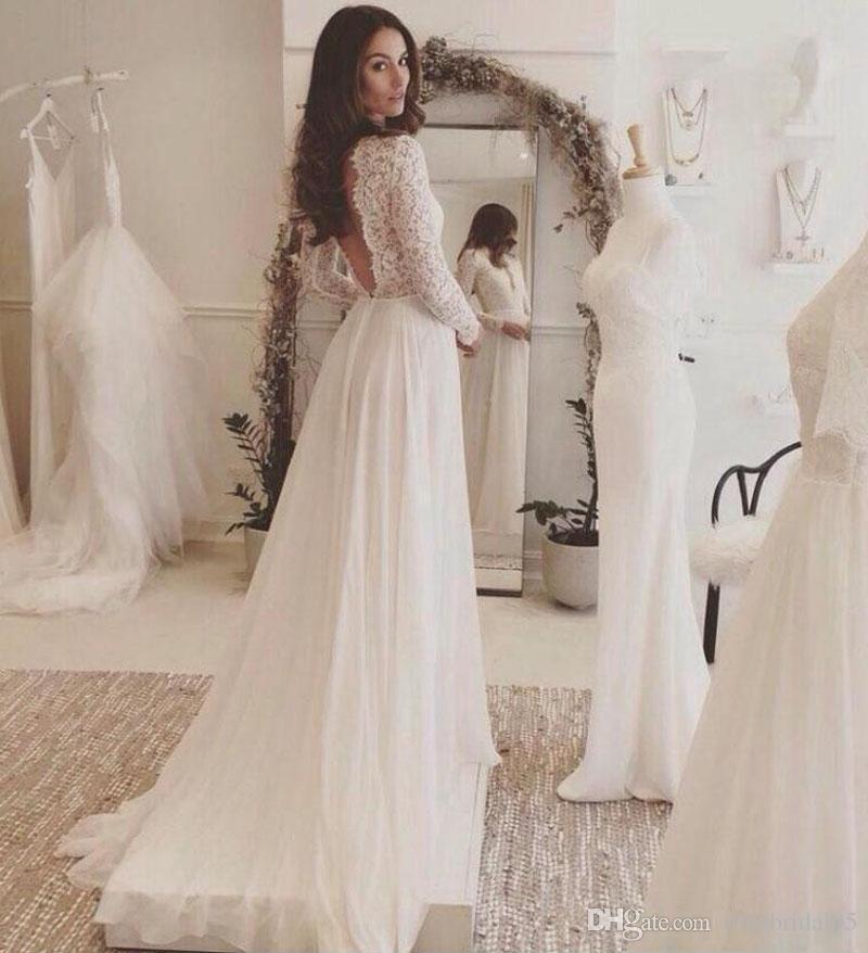 Robes de mariée à manches longues pour 2019 DaVinci