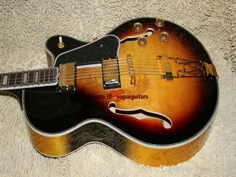 Custom Shop Clássico Sunburst L-5 Muito Beleza Jazz Guitarra de Alta Qualidade Frete Grátis