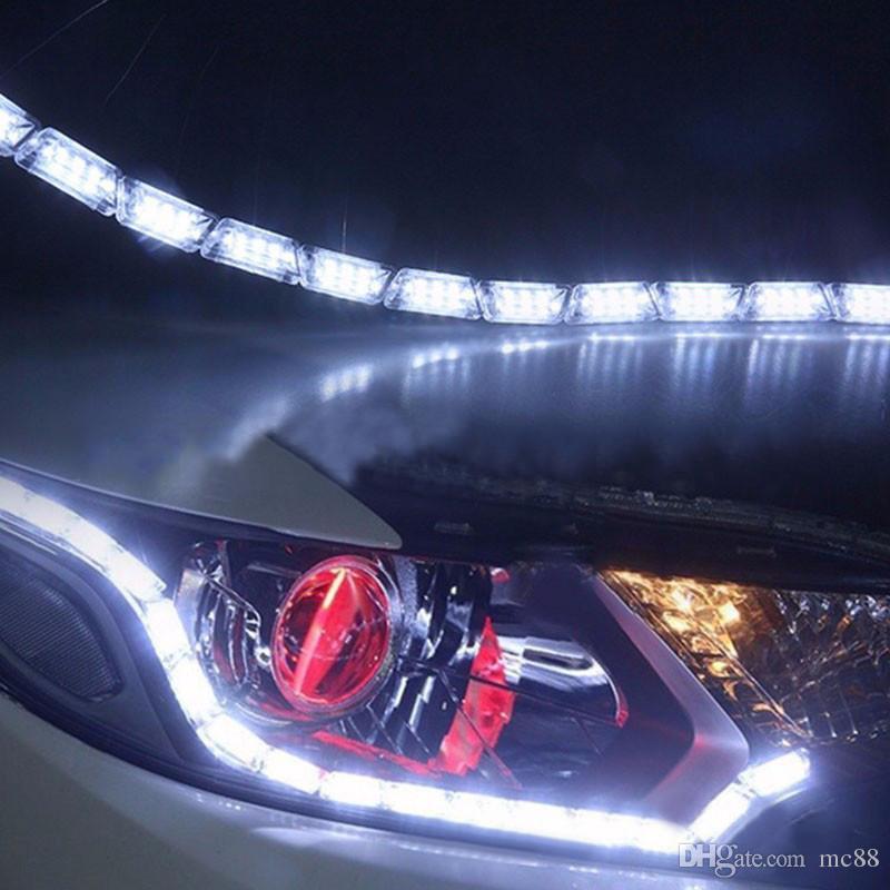 1 세트 12V 8W 차 망원경 stretchable 물 컬러 기능을 실행하는 눈물을 가진 더블 컬러 크리스탈 램프 16LED 장식 조명 4014