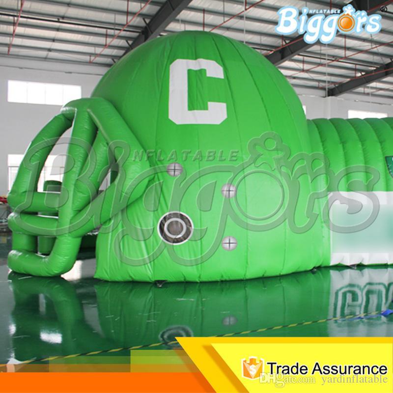 Venda direta da fábrica En71 Outdoor Padrão Popular Sports infláveis entrada do túnel inflável Capacete de futebol Combo Tunnels