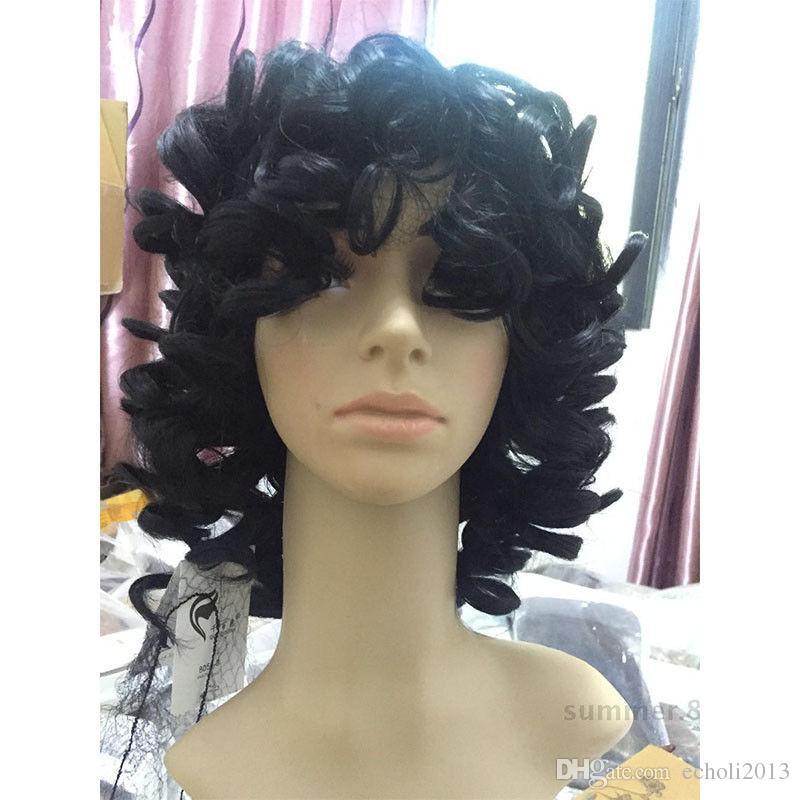 Bob encaracolado perucas de cabelo humano com franja curto brasileiro encaracolado cheia do laço humano peruca para as mulheres negras peruca dianteira do laço barato para venda