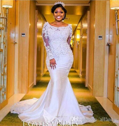 Nigerian Wedding Gowns: 2018 Nigerian Mermaid Wedding Dresses Sweetheart Beaded