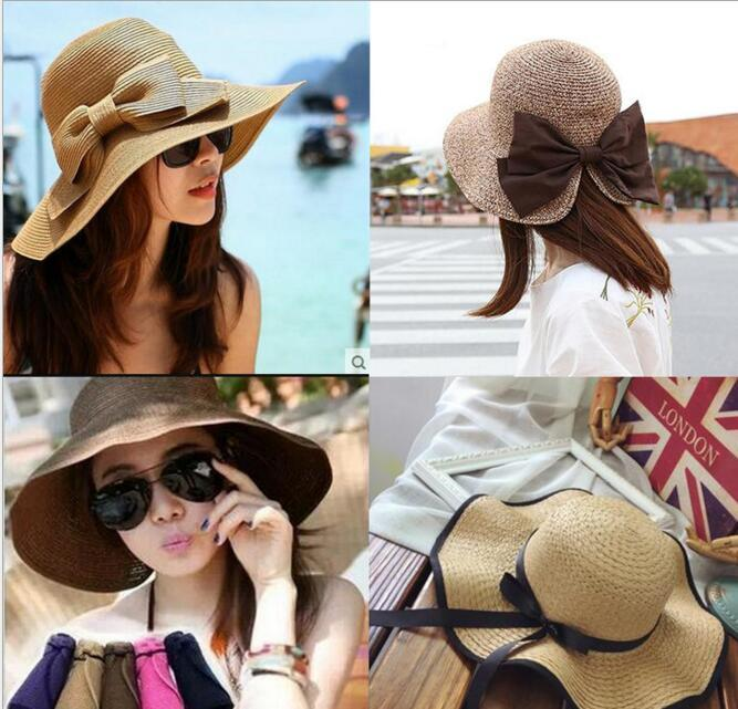 Wholesale Sun Hat Fashion Women S Floppy Hat Foldable Wide Large Brim Floppy  Bucket Hat Summer Beach Cap Fedoras Beanie Hats From Christmasgoods 7c95d6de345
