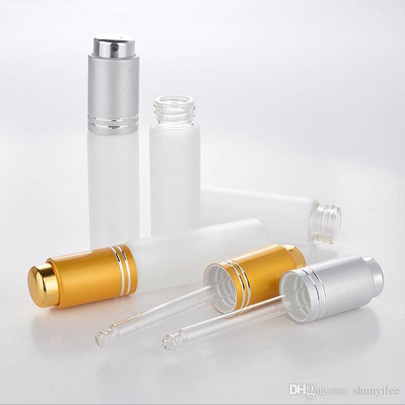 20 ML Mini Portatile Glassato Vetro Riutilizzabile Bottiglia di Profumo Vuoto Cosmetico Parfum Fiala Con contagocce spedizione gratuita F2017348