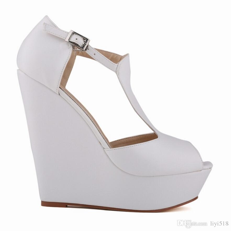 Nuove pompe da donna Ladies Suede Platform Peep Toe Tacchi alti Scarpe Zeppe Pompe le donne Dress Shoes