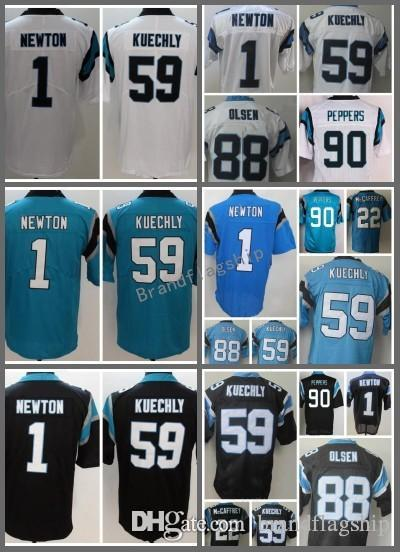 competitive price 9352b ca5da 1 cam newton jersey black