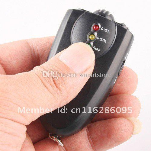 # LED Light Accurate Breathalyzer Flashlight Breath Alcohol Tester Testers Keychain Key Chain Only Black Color 0001