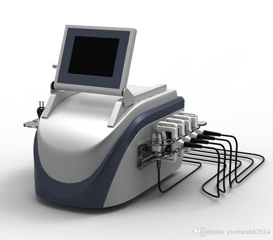 Nouveau Design 4 En 1 Professionnel 40 K Ultrasons Liposuccion Cavitation Vacuum RF Soins de La Peau Diode Llipolaser Brûlure Graisse Minceur Machine