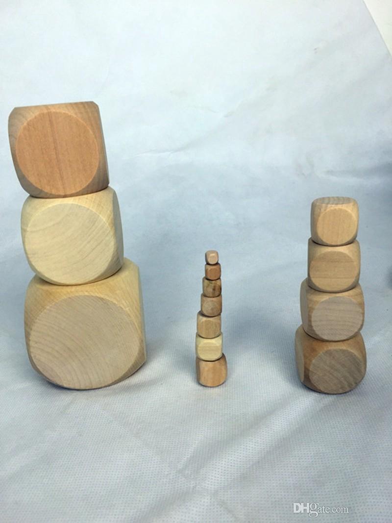 15mm de Madeira Em Branco Dice DIY Cubo De Madeira Crianças Brinquedo Educacional de Segurança Beber Jogo Dices Jogo de Tabuleiro Acessórios Bom Preço de Alta Qualidade # B49