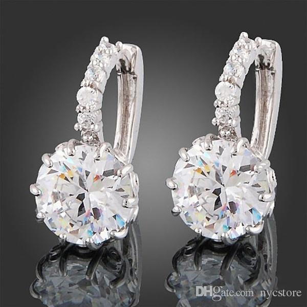 895591088 2019 Wholesale New 925 Sterling Silver Ear Hook Crystal Rhinestone Hoop  Earrings From Nycstore, $0.81 | DHgate.Com