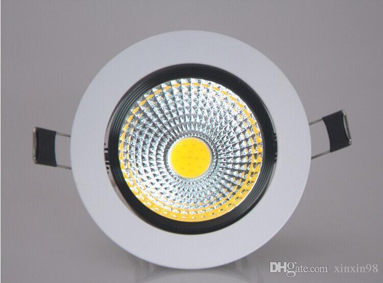 20 ADET Toptan fiyat 9 W / 12 W Dim COB LED Aşağı çakmak AC90-260V COB Gömme Aşağı Işık Lambası Sıcak Satış Ücretsiz Nakliye