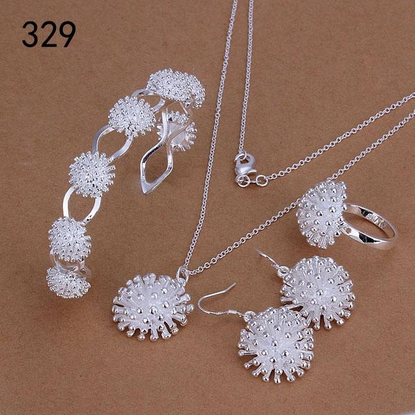 top sale mix style same price women's sterling silver plated jewelry sets,fashion 925 silver Necklace Bracelet Earring Ring set GTS39a