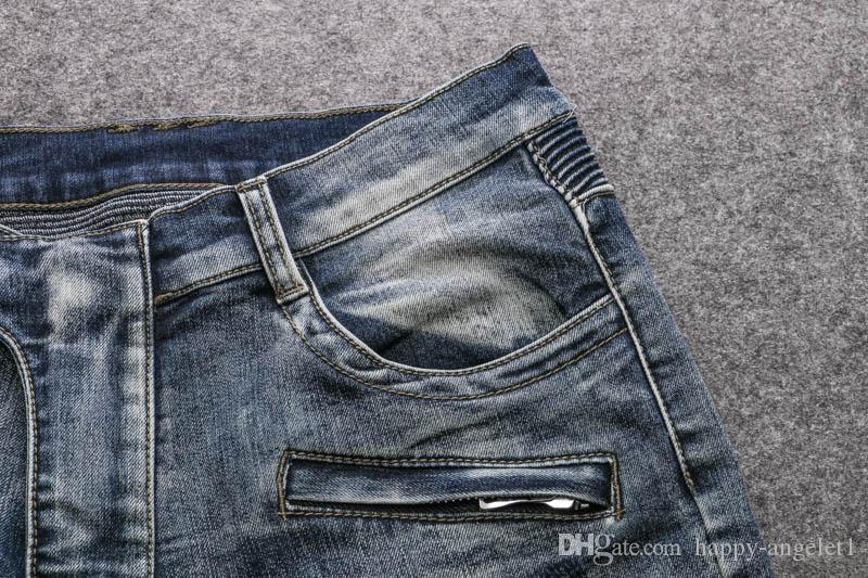 Men Destoryed biker denim ripped jeans mens Famous Brand New size 30 32 34 36