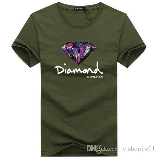 Homens 3D de diamante de manga curta t shirt da marca de skate roupas de moda hip hop camisetas dos homens tops streetwear camiseta homme