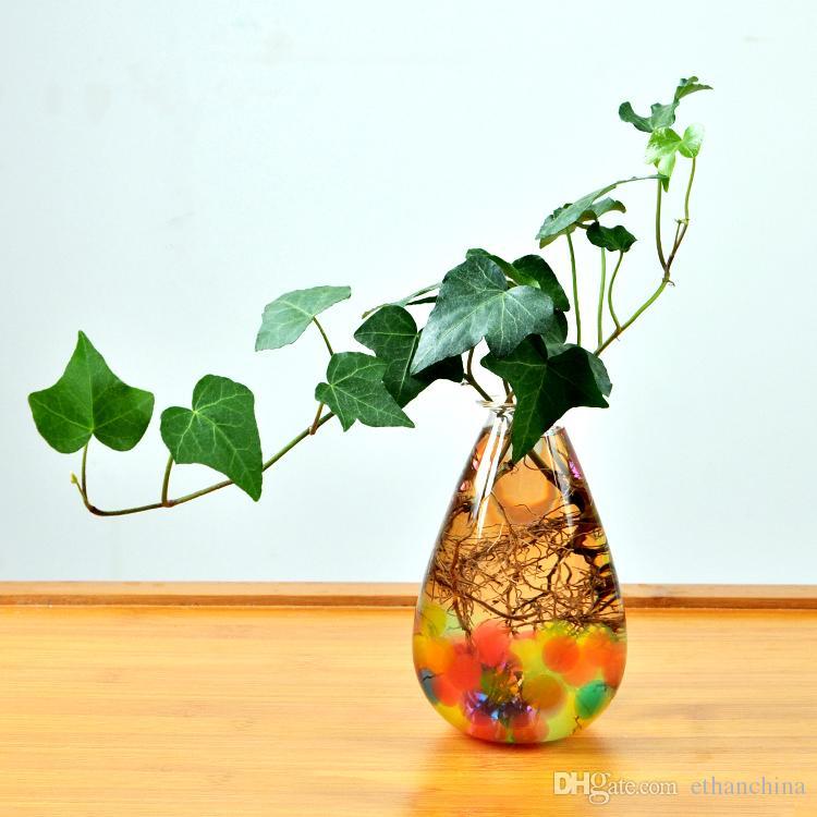 Ivolador Decoration Retro Glass Vase Fillers Containers Terrarium