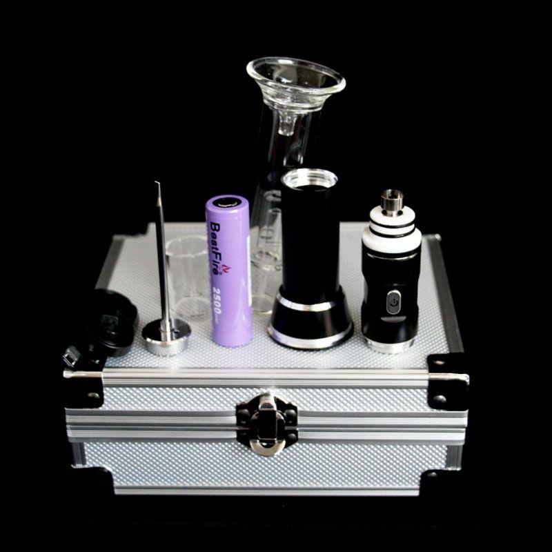 innovativer vape Stift der Version 3.0 mit 2500mah Batterie Keramiknagel Glasbong-Aufsatz Für trockenes Kräuterwachs e cig start kit