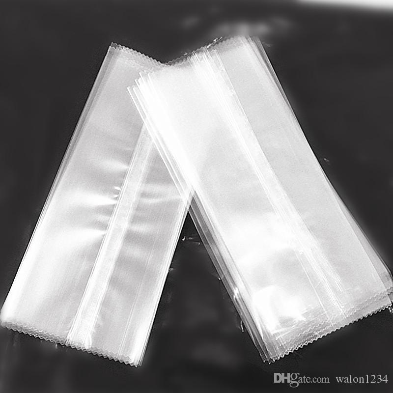 Nouveau style transparent en plastique dentelé de paquet de crème glacée sac de nourriture sac d'emballage ops popsicle pochette de cuisson paquet 3 tailles /