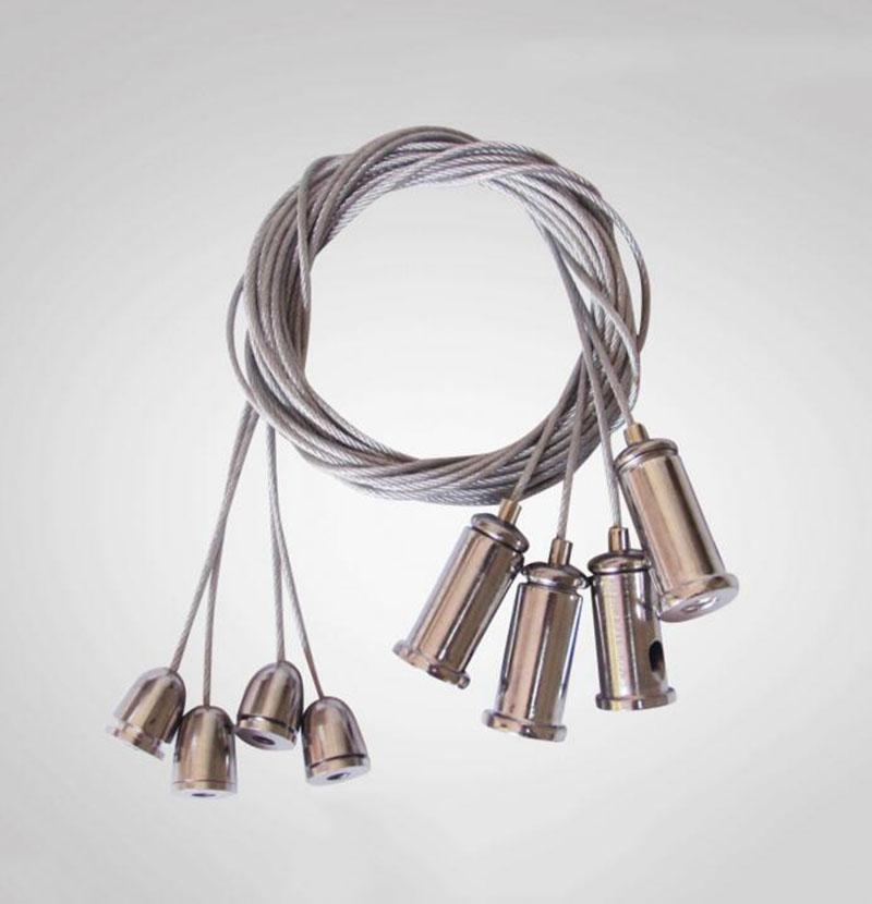 2018 Chandelier Wire Rope Panel Lights Accessories Hanging Steel ...