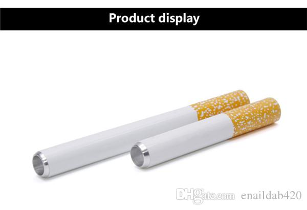 Cigarette Filter Pipe Aluminium Alloy material Metal Smoking Pipe for sale a box 78mm 55mm lenth Smoking Accessories for dry herb