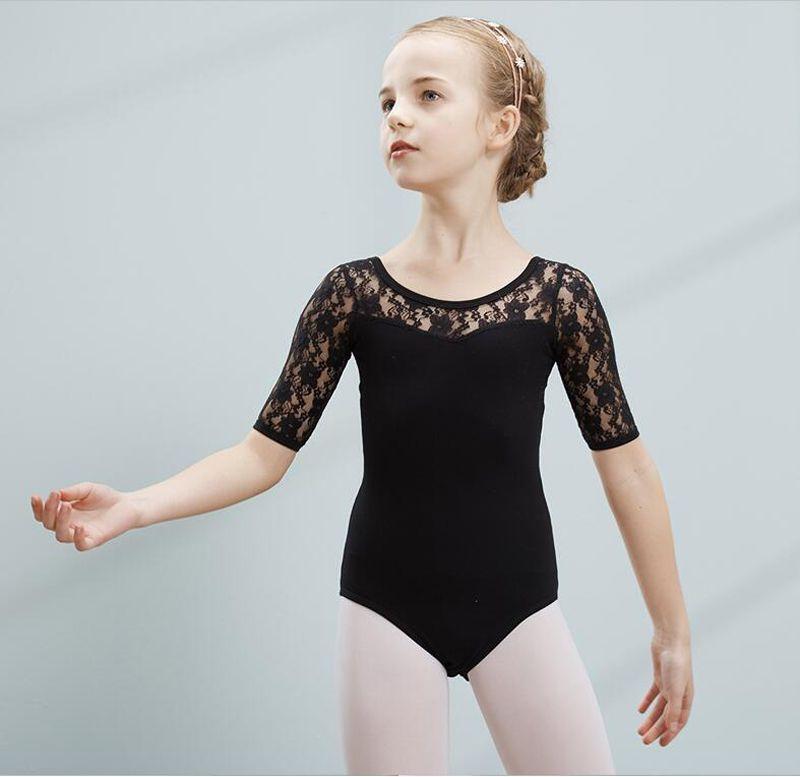 Compre Leotardo De Ballet Para Niñas Traje De Baile De Encaje De ...
