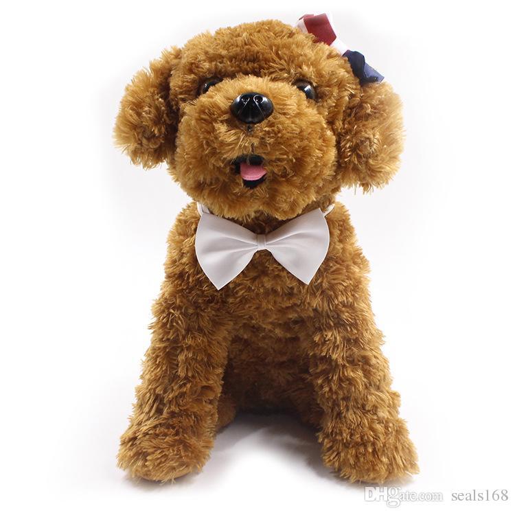 Verstellbarer Haustier Hund Fliege Hals-Accessoire Halskette Kragenwelpe Helle Farbe Pet Bow Mix Farbe HH7-302