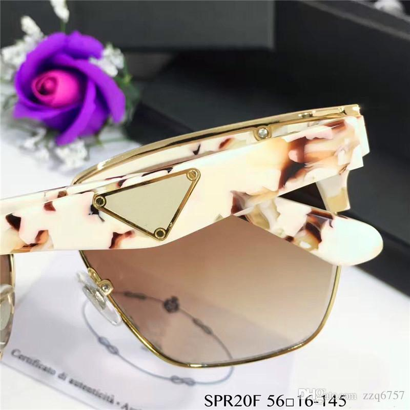 Italienische Mode-Design-Gläser PD 20T Quadrat Halbrahmen Rahmen und Metall spezielles Design Top-Qualität mit Box beliebtem Outdoor-Stil