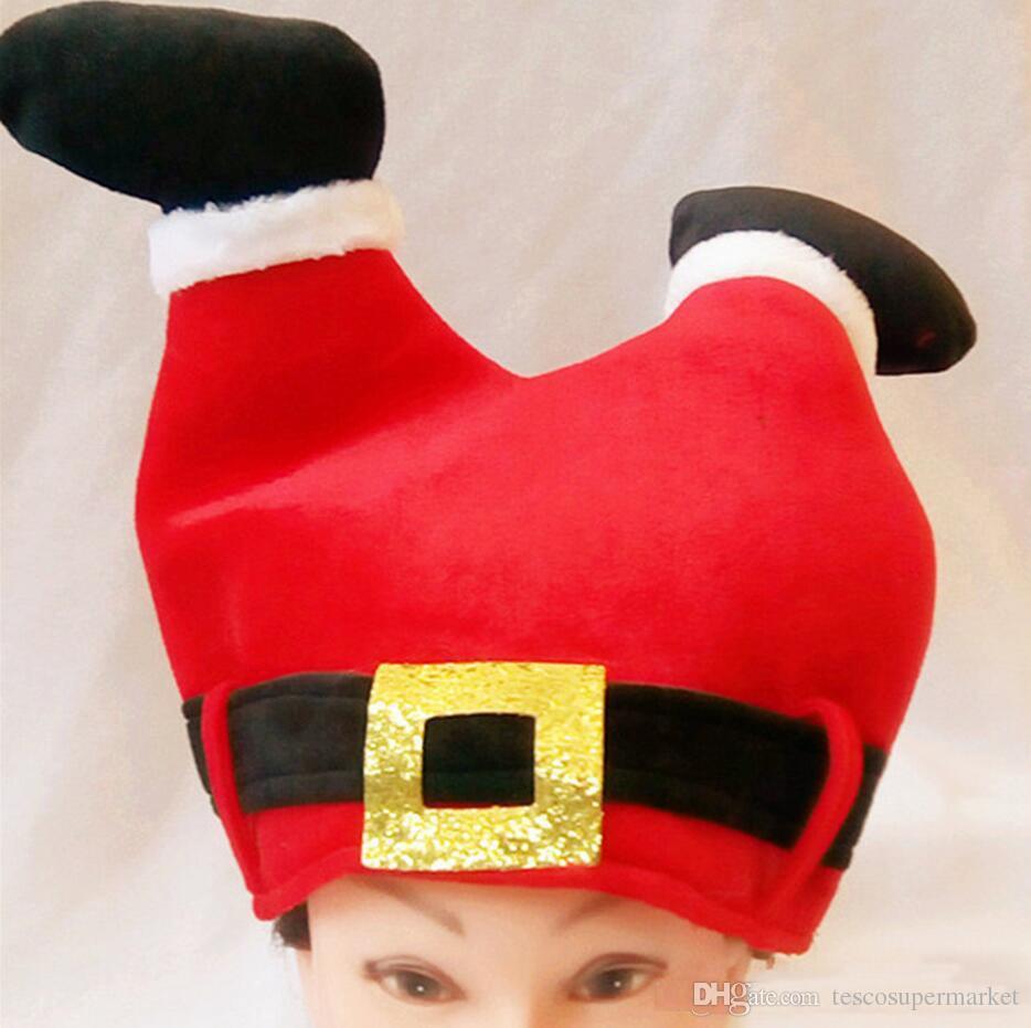 New Santa pants - shaped cap cap pleuche Christmas party hat Cosplay hat festival party supplies