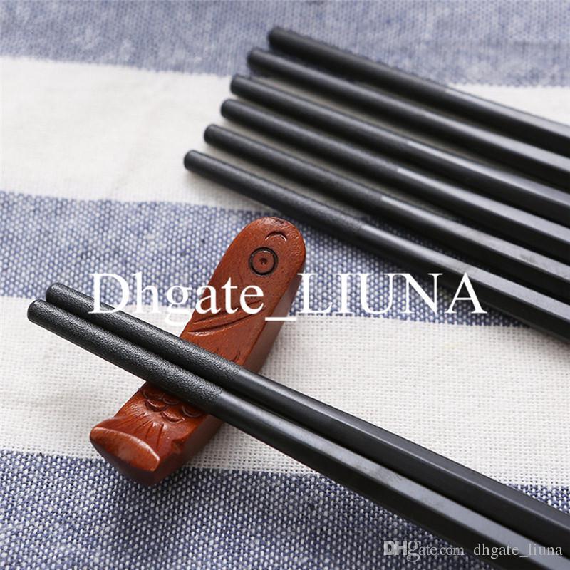 Оптовые китайские бытовые палочки для еды набор 24 см квадратных черный многоразовые палочки для еды ресторан посуда