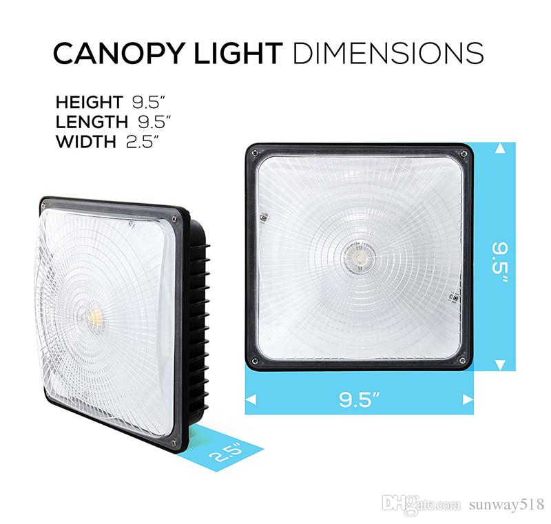 LED Canopy Light NO Weather Proof,350W HPS/HID Canopy Lights Replacement,110V 277V Input,for Gas Station,Playground, Gym, Warehouse, Garage,
