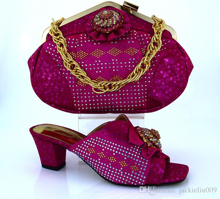 Moda afrika ayakkabı ile eşleşen çanta setleri papyon ve rhinestone dekorasyon bayanlar ayakkabı parti elbise MM1011 için sarı, topuk 6 CM